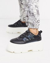 Asos Design DESIGN Dapper chunky reflective sneakers in black
