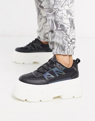 ASOS DESIGN Dapper chunky reflective sneakers in black