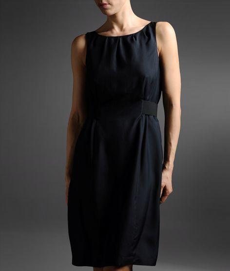 Armani Collezioni Silk Dress With Tie Detail At Waist