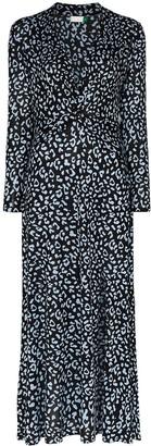 Rixo Anja leopard print maxi dress