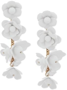 DKNY Gold-Tone Flower Drop Earrings