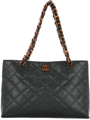 Chanel Pre Owned 2000-2002 Quilted Tote Bag