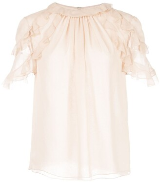 Jason Wu Collection Frill Sleeve Blouse