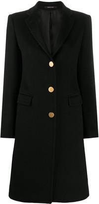 Tagliatore Button-Up Cashmere-Blend Coat