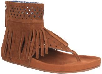 Dingo Fringed Leather Thong Sandals - Heat Wave