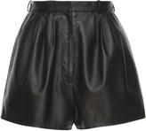 Lanvin Super 120'S Leather Shorts.