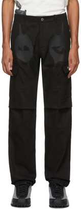 Nasaseasons SSENSE Exclusive Black Devil Eyes Cargo Pants