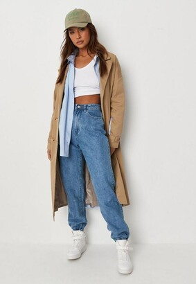 Missguided Blue High Waisted Jogger Mom Jeans