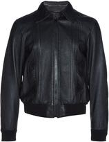 Saint Laurent Sunburst-embellished leather biker jacket