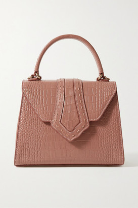 MEHRY MU Fey Croc-effect Leather Tote - Antique rose