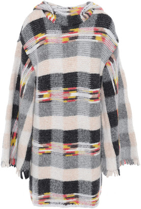 Missoni Fringed Checked Intarsia-knit Sweater