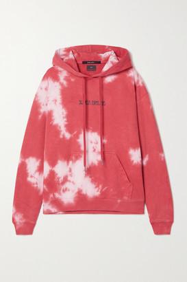 Ksubi Printed Tie-dyed Cotton-jersey Hoodie - Papaya