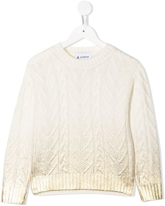 Dondup Kids Chunky Cable Knit Jumper