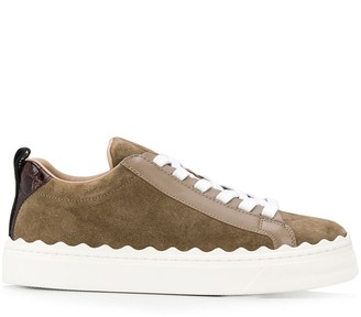 Chloé Lauren scallop sneakers