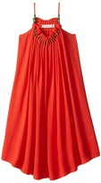Stella McCartney Hope Flowing Crepe Dress w/ Beaded Neckline Girl's Dress