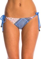MinkPink Sunset Patchwork Tie Side Bikini Bottom 8127772