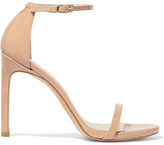 Stuart Weitzman Nudistsong Patent-leather Sandals - Neutral