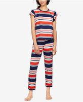 Kate Spade Striped Flutter-Sleeve Pajama Set