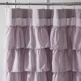Pier 1 Imports Ruffled Lilac Shower Curtain
