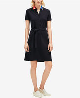 Lacoste Printed-Collar Polo Shirtdress