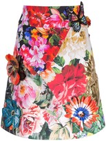 Dolce & Gabbana floral print embroidered skirt
