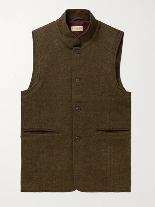 JAMES PURDEY & SONS Hawick Wool And Cashmere-Blend Tweed Gilet