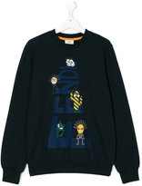 Fendi Teen cartoon print sweatshirt - kids - Cotton/Spandex/Elastane - 14 yrs