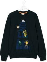 Fendi Teen cartoon print sweatshirt
