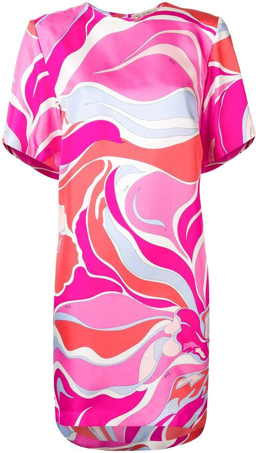 Emilio Pucci Riviera Print Silk Dress