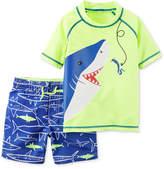 Carter's 2-Pc. Shark-Print Swimsuit, Baby Boys