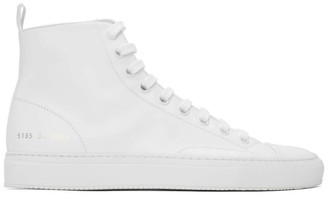 Common Projects White Tournament High-Top Sneakers