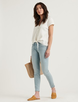 Low Rise Lolita Skinny Embroidered Jean