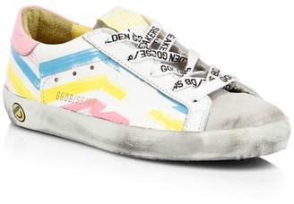Golden Goose Baby's, Little Girl's & Girl's Superstar Multicolor Stripe Leather Sneakers