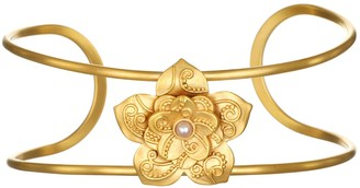 Satya Paisley Lotus Flower 3mm Cultured Pearl Cuff