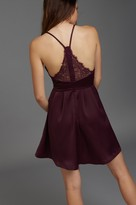 Dynamite Flared Slip Dress with Lace Back