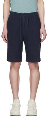 Ermenegildo Zegna Navy Linen Shorts
