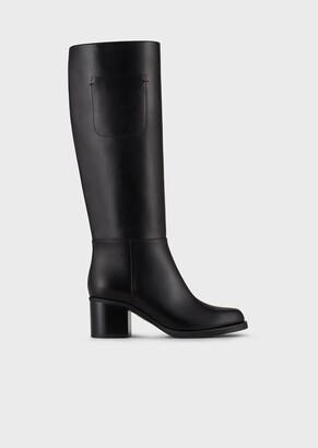 Emporio Armani Boots With Vegan Leather Heel
