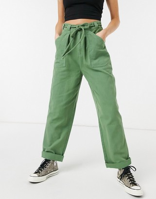 Free People lights down straight leg trousers with turn ups