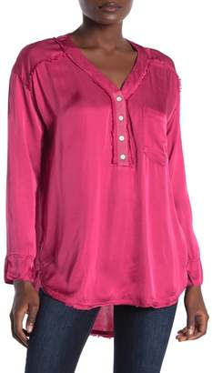 On The Road Watson Satin Patch Pocket Top