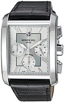 Raymond Weil Men's 'Don Giovanni' Swiss Automatic Silver-Tone and Leather Casual Watch, Color:Black (Model: 4878-STC-00658)