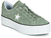Converse ONE STAR PLATFORM SEASONAL COLOR OX women's Shoes (Trainers) in Green