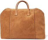 AERIN Leather-trimmed Suede Weekend Bag - Tan