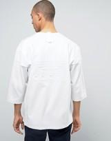 adidas New York Pack 3/4 Sleeve T-Shirt In White BJ9992