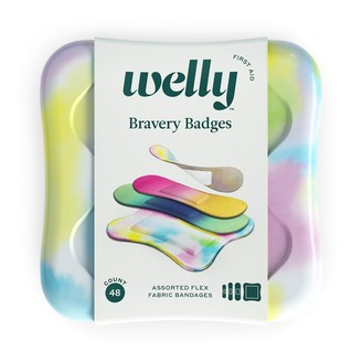 Welly Bravery Badges Tie-Dye Adhesive Bandages - 48 count