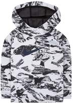 Nike Boys 4-7 Therma Abstract Logo Raglan Pullover Hoodie