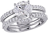 Women's Amour SHB000796 White Sapphire 3 Piece Bridal Ring Set