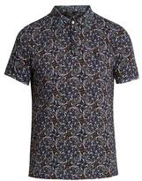 Fendi Floral-print Cotton-piqué Polo Shirt