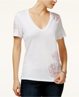 GUESS Vivien Floral Embroidered T-Shirt