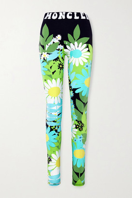 MONCLER GENIUS + 8 Richard Quinn Floral-print Stretch-jersey Leggings - Black