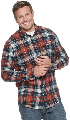 Sonoma Goods For Life Big & Tall Supersoft Flannel Button-Down Shirt